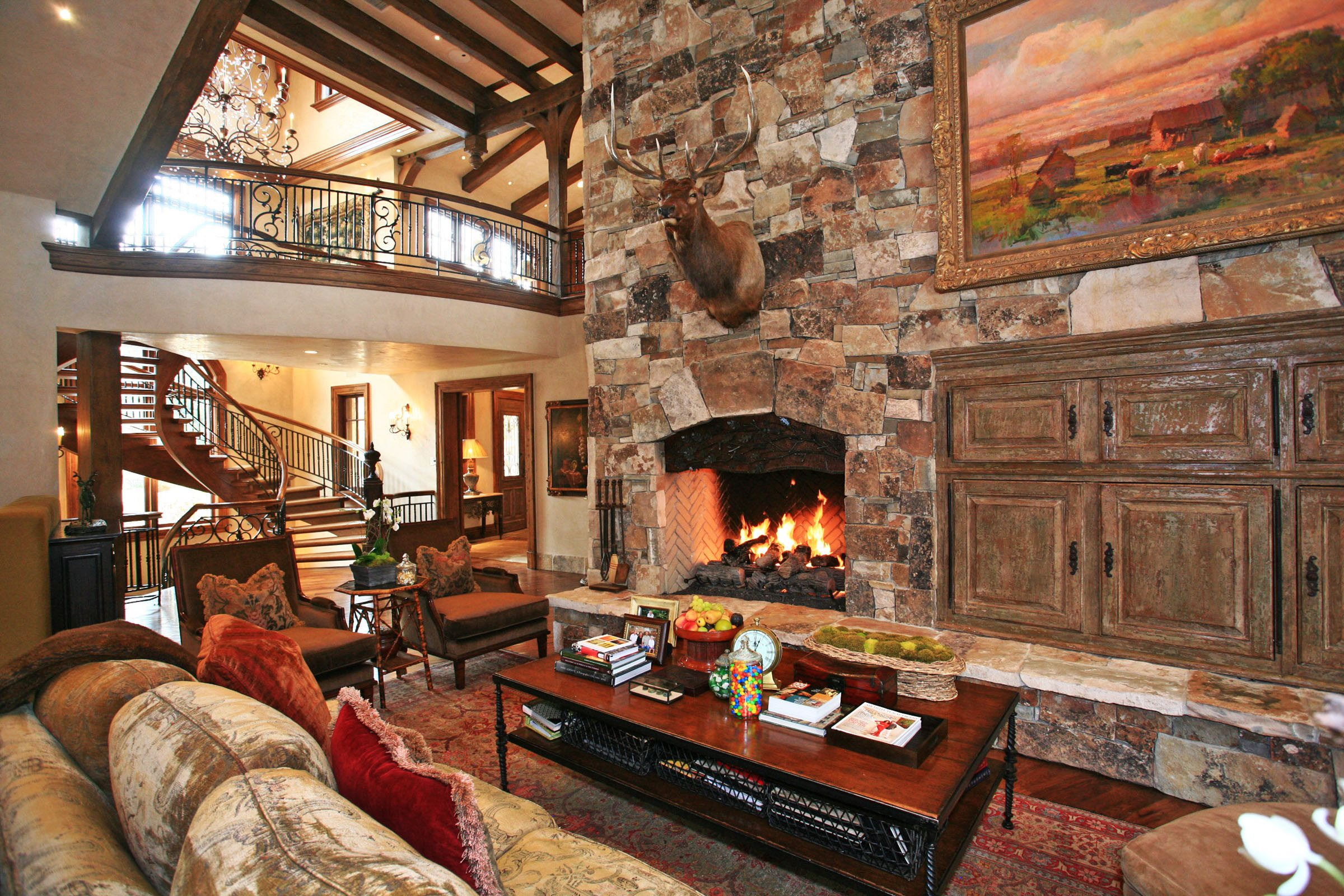 Three utah living rooms that personify a perfect winter for Million dollar living rooms